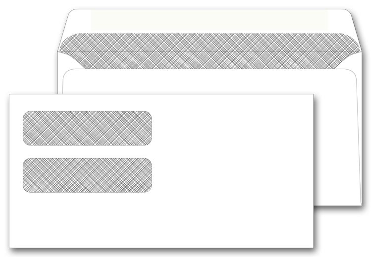 13718 - Dual Window Confidential Envelopes