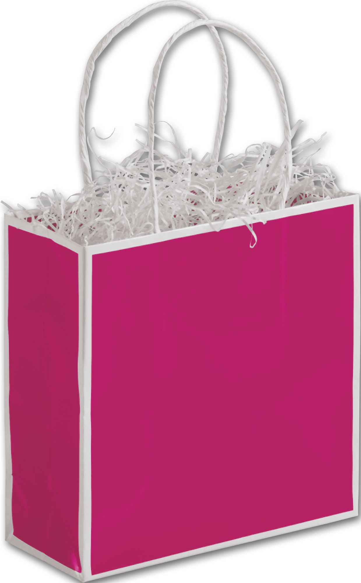 Encase your items with taste with these adorable mini fuchsia bags. Perfect for spas!