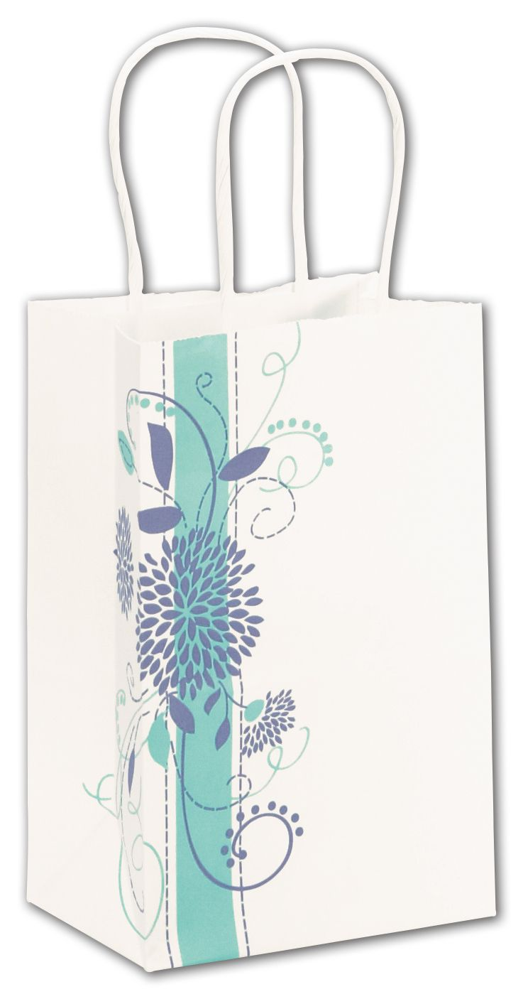 These delicate beautiful shopping bags are ideal for gift giving or purchases. Perfect for florists.