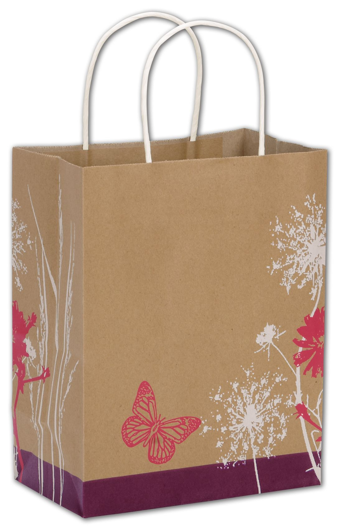 Make your purchases pop with these beautiful sturdy shopping bags. Ideal for florists.