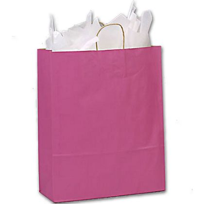 These fun pink paper bags are a welcome addition to your business.