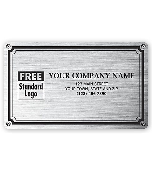 1522 - Labels - Custom Weatherproof Plate Label Printing