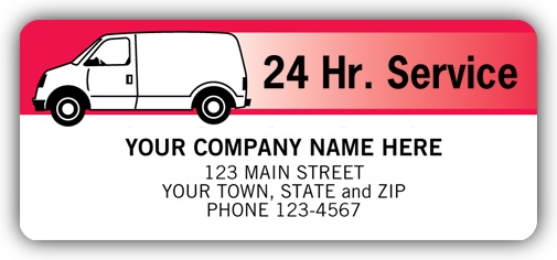 1711 - Van Service Labels