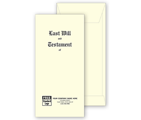 These extra-strong will jackets protect your clients' documents with long-lasting quality.