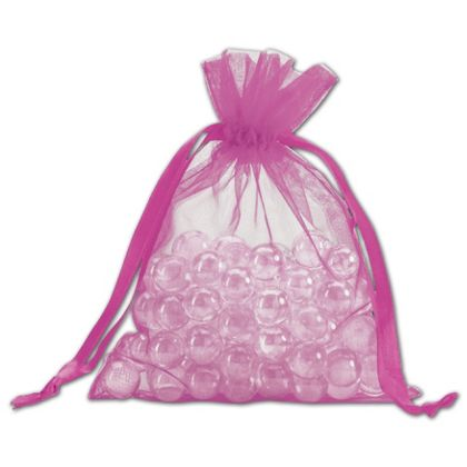 This Fuchsia Organdy Bag is a beautiful and simple way to encase your gifts.
