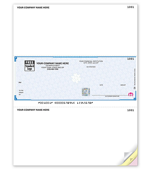These Laser Peachtree Checks are perfect for paying for anything. With 2 detachable stubs. Compatible with Peachtree software