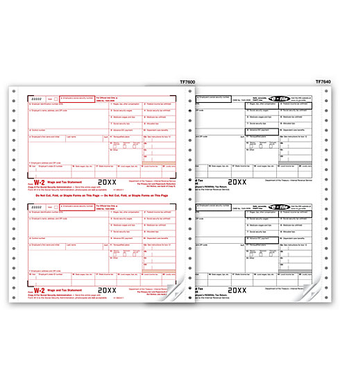 TF2106 - Continuous W-2 Form - Twin Sets, 6-part