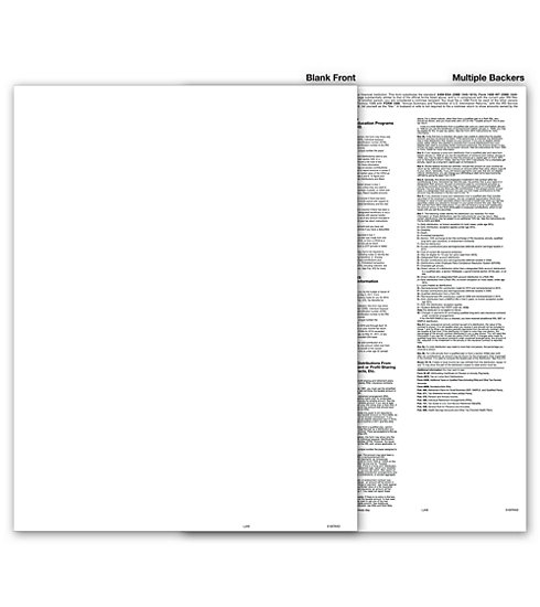 TF5105 - Blank 1099 Form with Multiple Backers, Recipient Copy B