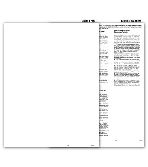 TF5106 - Blank 1099 Form with Multiple Backers, State Copy C