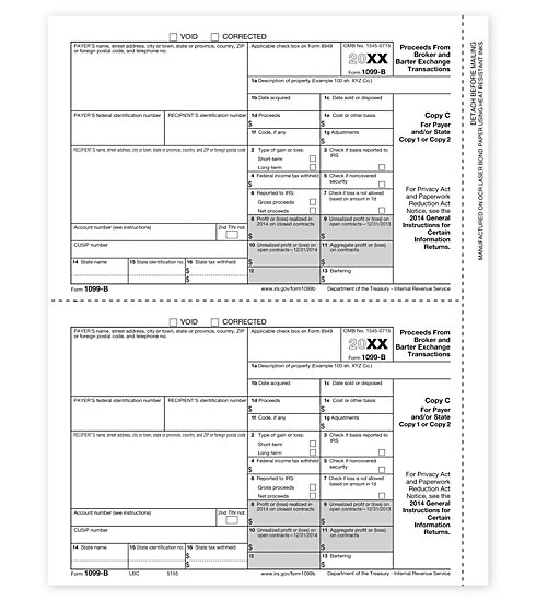TF5155 - IRS Forms - Laser 1099 B - Lender or State Copy C
