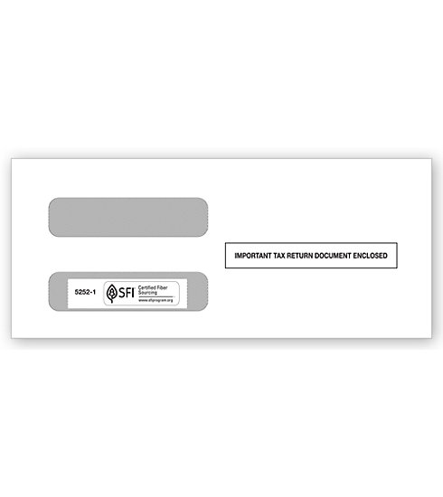 TF52521 - Two-Window Envelopes for 1099 Misc. 3-Up