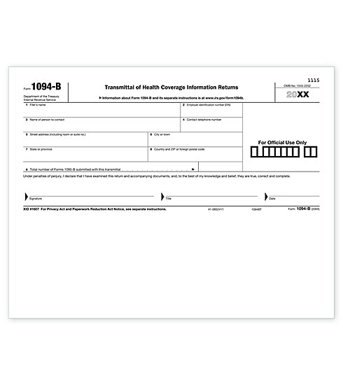 TF5400 -  Laser 1094B Transmittal Health Coverage
