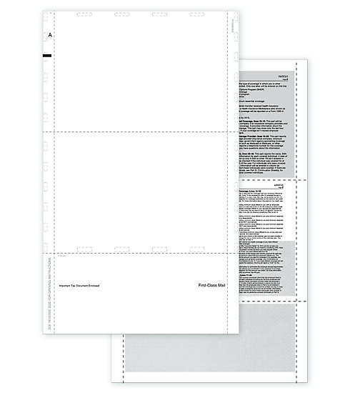 TF5508 - Pressure Seal Blank ACA Form 1095 w/Backer