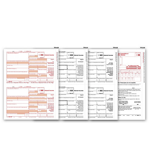 TF6104 - Laser 1099 Form - Interest Income, 3-Part
