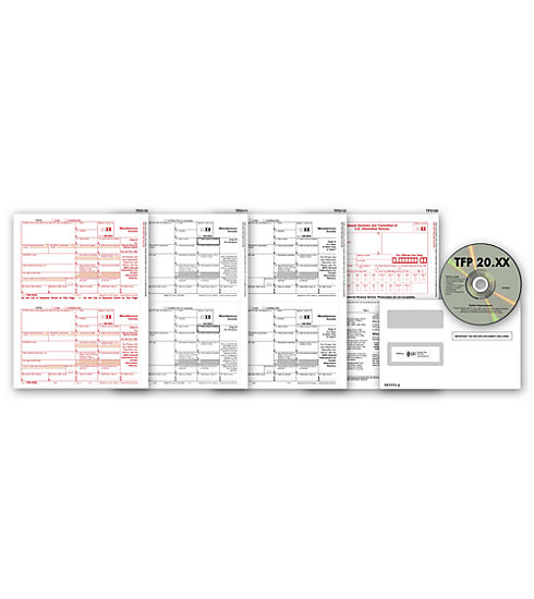 TF7105 - Laser 1099 Form with Tax Software Bundle