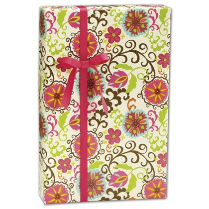 Wrap your gifts in style wit this Happy Flower Gift Wrap.