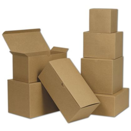 Ensure you get the box you need with this assortment of Kraft Gift Boxes.