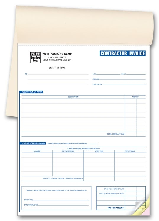 253 - Custom Invoice for Contractors