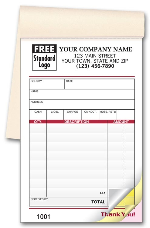 2540 - Customized Sales Books with 50 Slips per Book