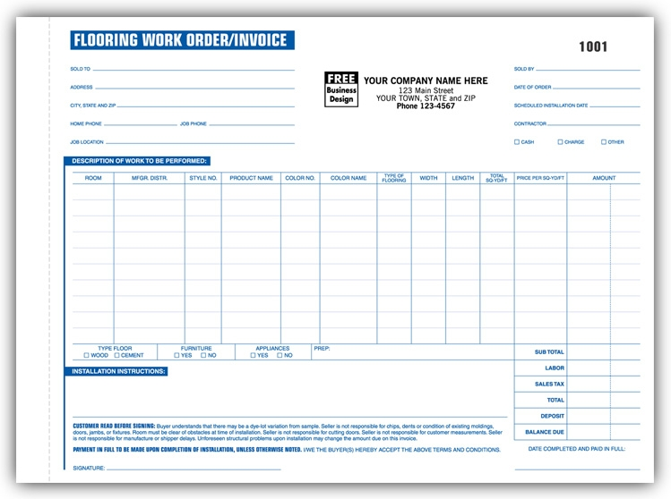268 - Flooring Work Orders