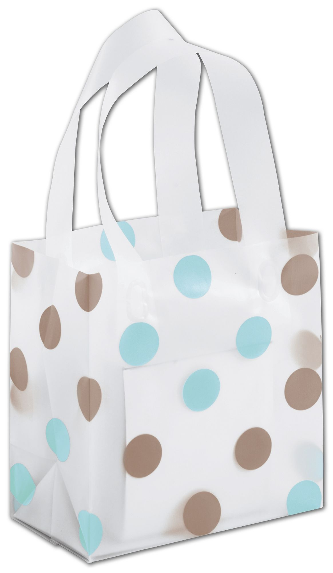 These Small Clear Plastic Shopping Bags are ideal for any retail setting. Strong and attractive.