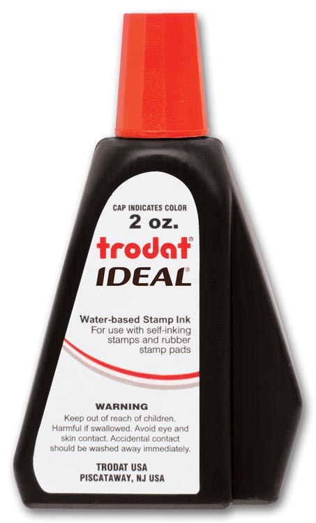 307002 - Red Ink Refill Bottle for Self-Inking Stamps