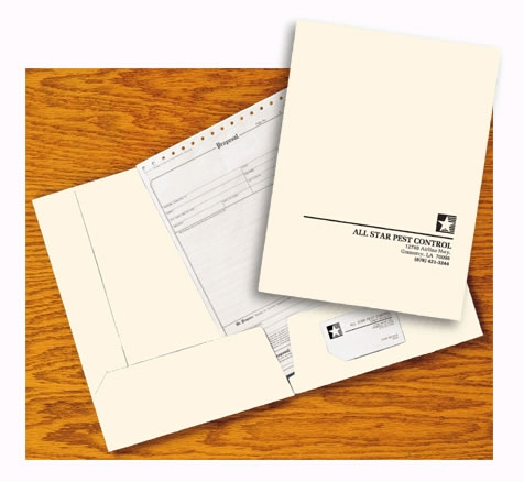 3142 - Custom Pocket Folders | Ivory Custom Pocket Folders
