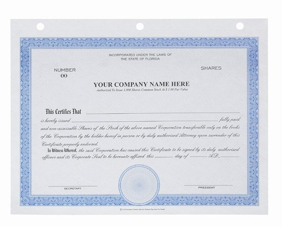 CRT1201 - Big Board Stock Certificates