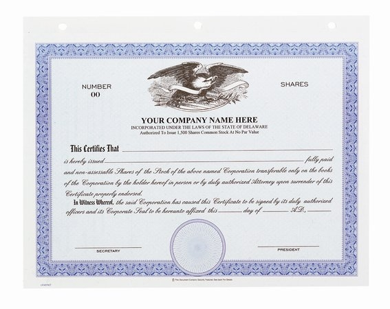 CRT1301 - Stock Certificates - Big Board with Eagle