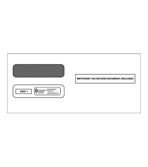 TF33331 - Double-Window Envelope - Laser W-2