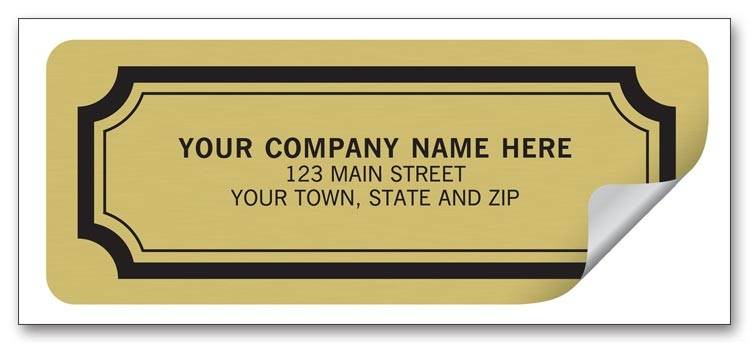 These Gold Foil labels are perfect for advertising your business.