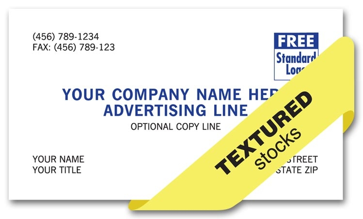 Eco-friendly with a natural appearance. These cards can be printed on white or natural stock.