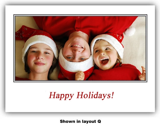 3996 - Photo Holiday Cards | Custom Photo Holiday Cards