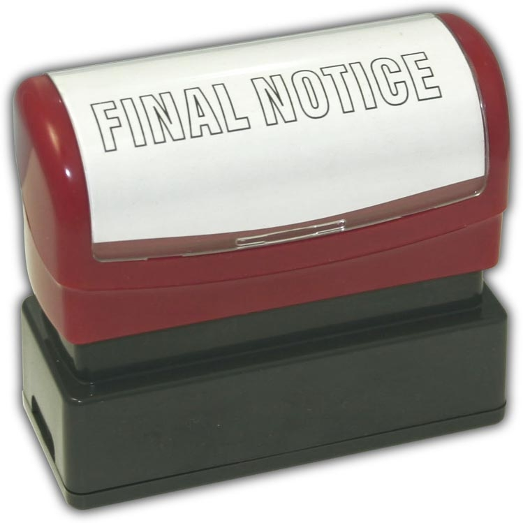 D02077 - Pre-Inked FINAL NOTICE Stamp