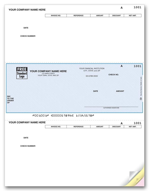 DLM207 - Laser Accounts Payable Checks, Discount on Stubs