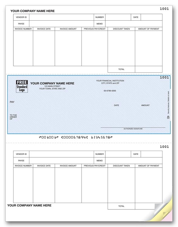 DLM261 - Laser Accounts Payable Checks, with Credits