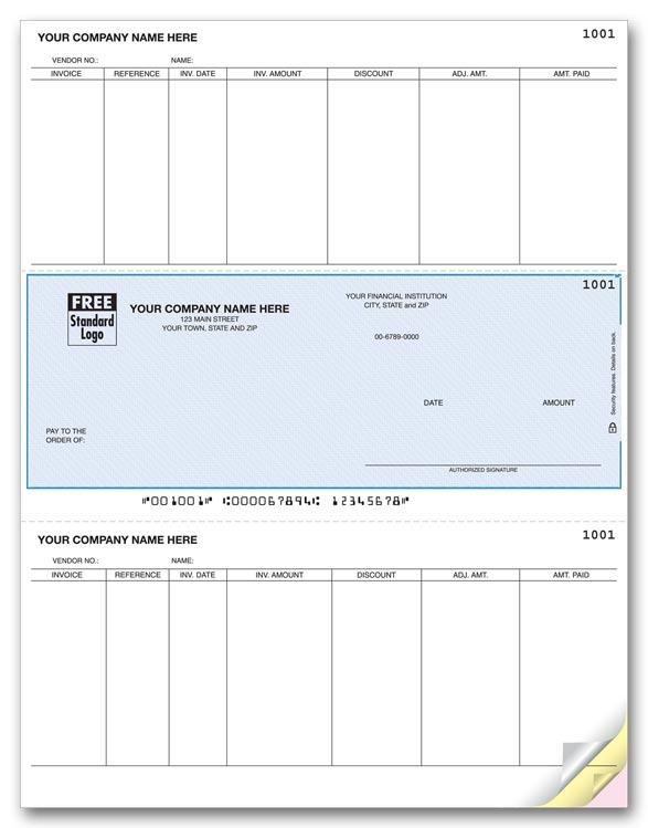 These Accounts Payable Checks let you pay multiple invoices at once. Choose your check color and typestyle.