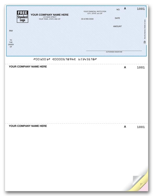 Laser Accpac Checks are perfect for paying bills. Use with inkjet or laser printers.