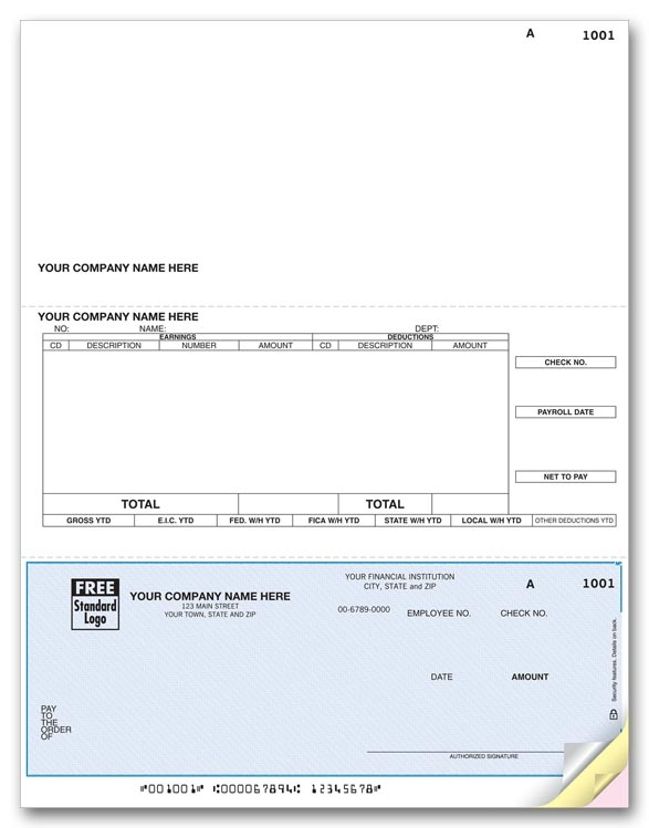 DLB313 - Laser Accounts Payable Checks, Total in Bold
