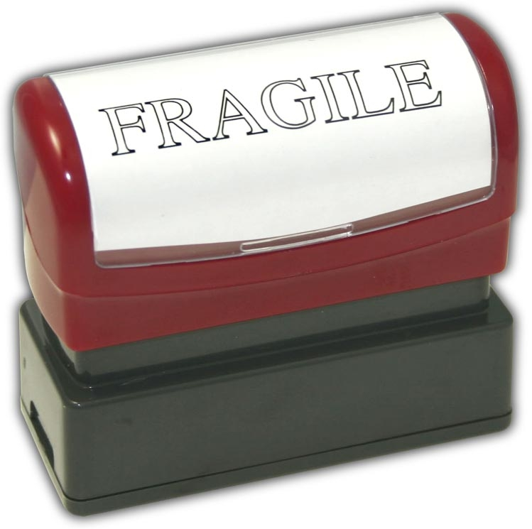 D2075 - Stock Stamps - Pre-Inked FRAGILE Stamp