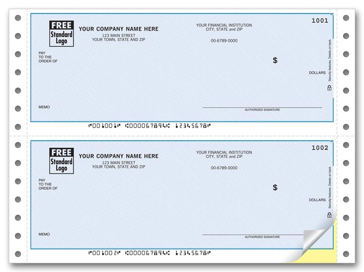 Pin Feed Quicken ® Business Checks are great for paying your bills from your software. For use with pin-feed printers.