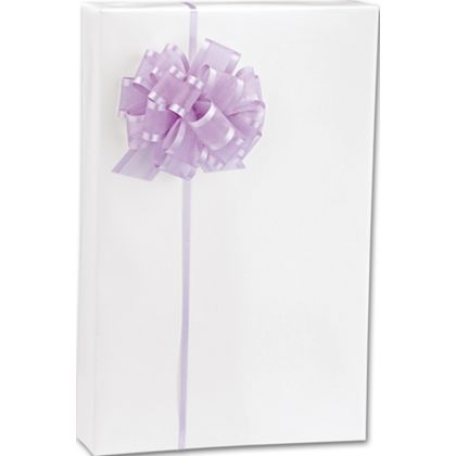 Wrap your paper in style with this white gloss gift wrap.