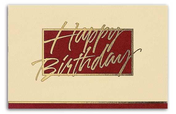 Professional Birthday Cards BurgundyCream – Professional Birthday Card