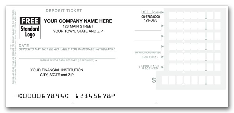 51119N - Deposit Tickets - Personal Size