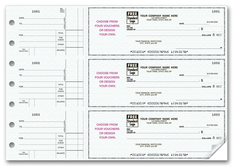 53225N - Personalized 3-To-Page Voucher Check