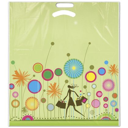 Package your gifts or purchases stylishly with these Frosted Plastic Shopping bags.
