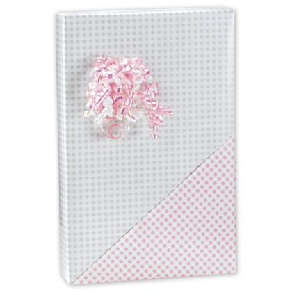 Wrap your gifts in sweet style with this Baby Gingham Reversible Wrap.