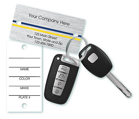 Easily prevent service mix-ups with these brightly colored key tags. Definitely a must-have in any shop environment.