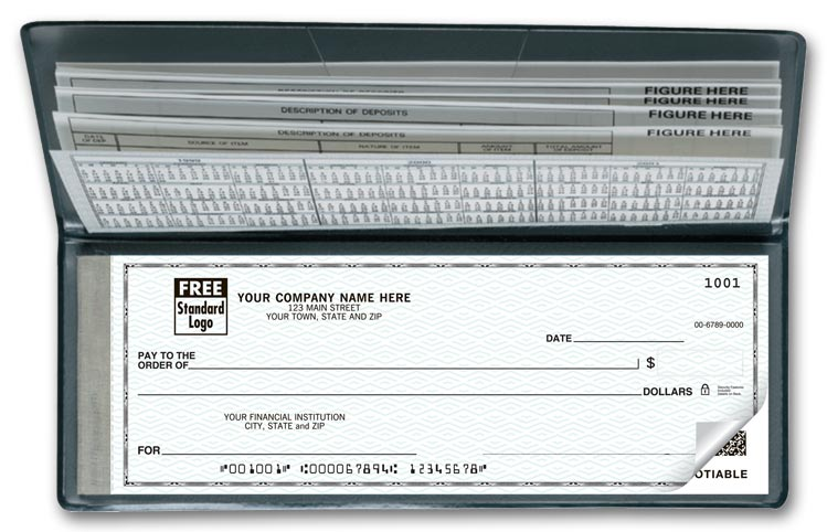 Ideal for every travelling business person. These checks are small enough to fit in your bag, yet full sized for convenience.