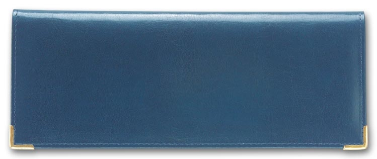 59001 - Leather Check Holder, Blue